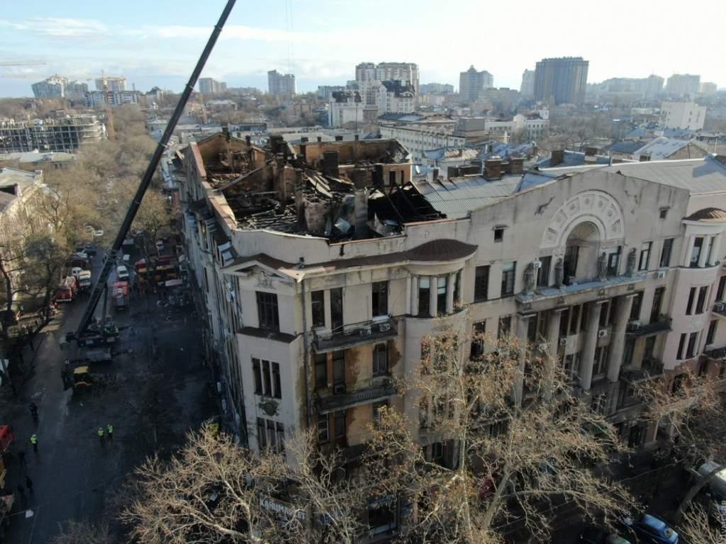 Пожар в Одессе: у полиции появились подозреваемые