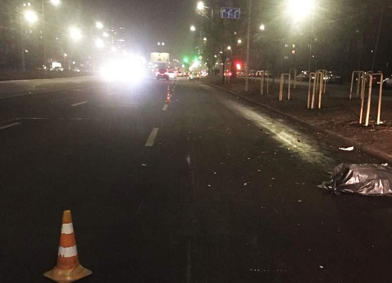 В Киеве погиб мужчина, который перебегал шестиполосную дорогу (ФОТО)