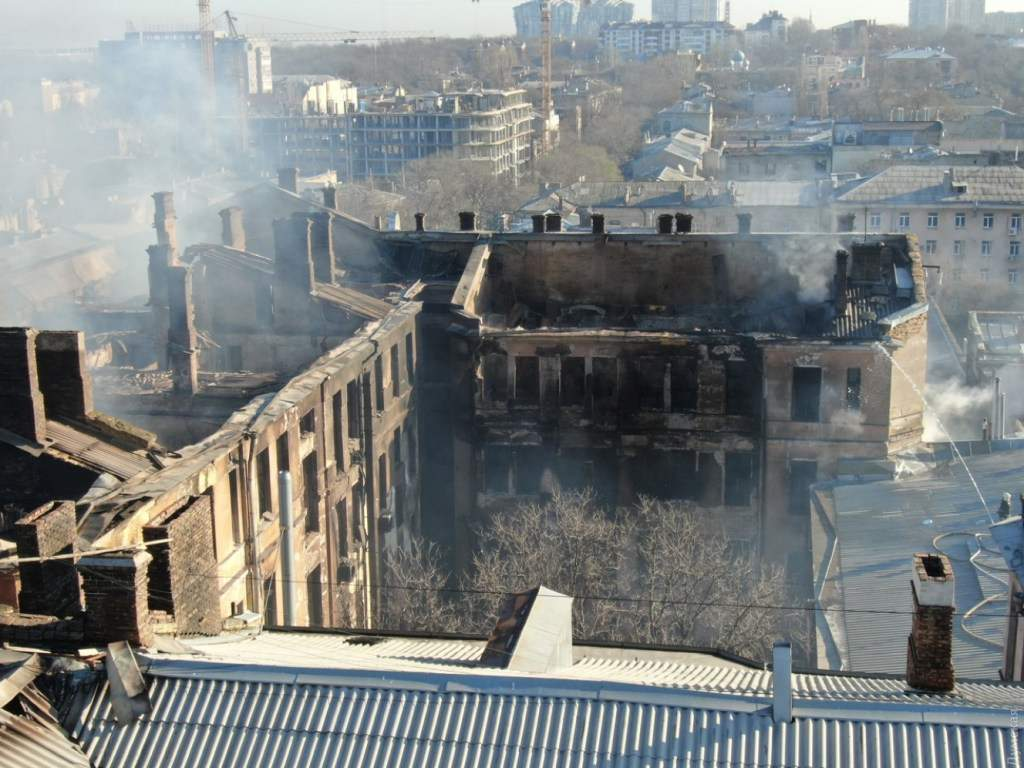 Известна основная версия пожара в одесском колледже