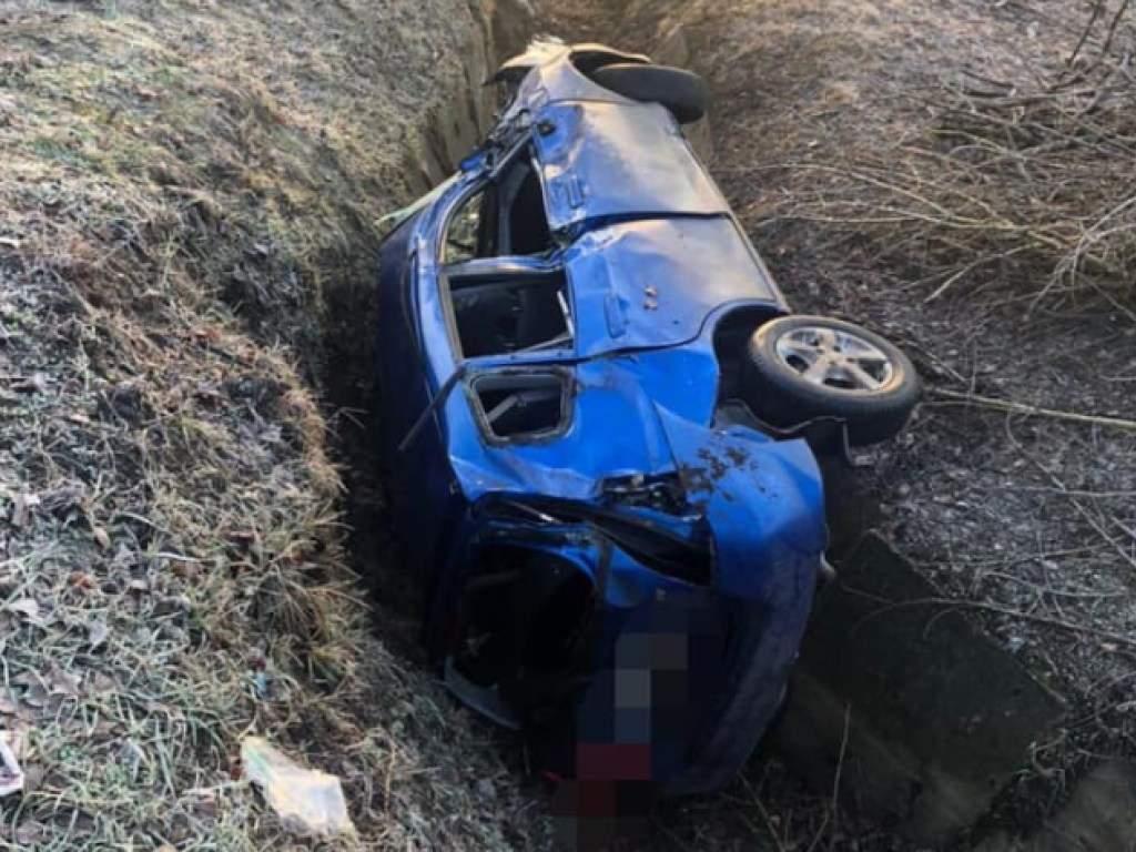 В Харькове автомобиль упал в овраг (ФОТО)