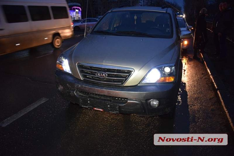ДТП в Николаеве: В центре города столкнулись автомобили KIA и Mitsubishi