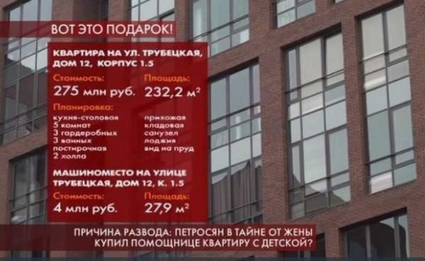 Петросян обеспечил молодую жену элитной недвижимостью