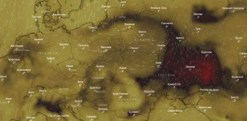 Над Киевом образовалось облако угарного газа (ФОТО)