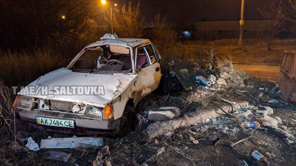 В Харькове водитель врезался в мусорный контейнер (ФОТО)