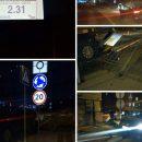 В Киеве авто с пьяным водителем влетело в забор дома (ФОТО)