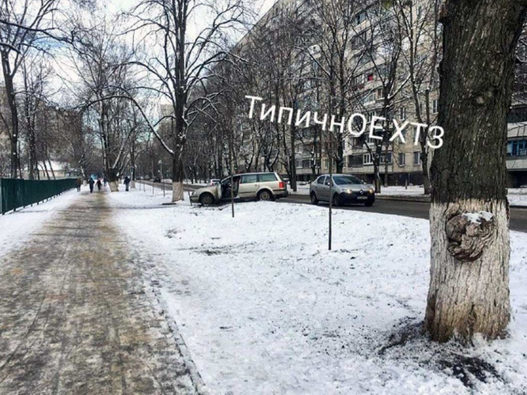 Авария с двумя иномарками: В Харькове машина вылетела с трассы (ФОТО)