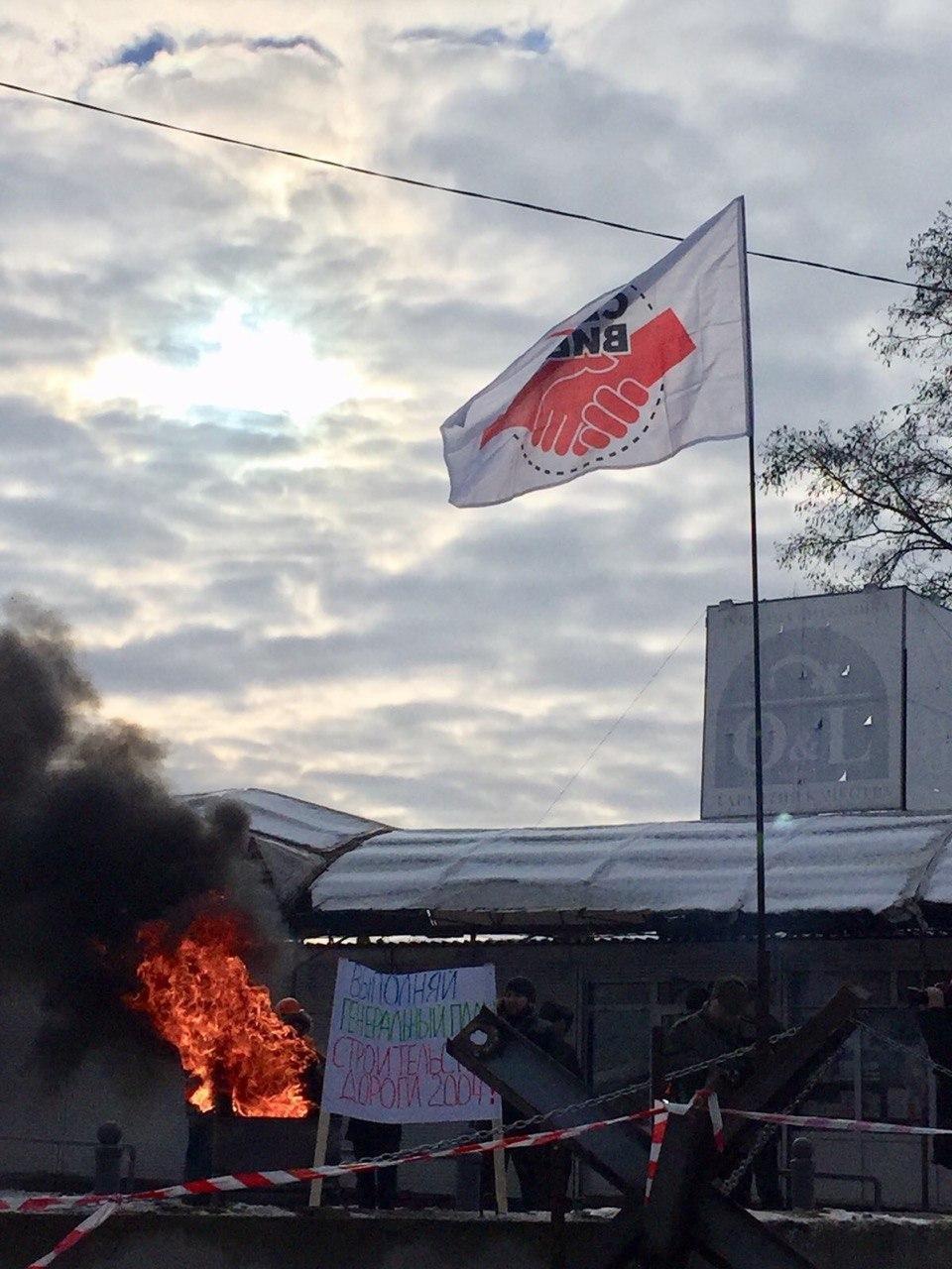 В Харькове люди готовы физически противостоять строительству дороги на месте