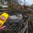 В зоне отчуждения горит лес из-за поджога