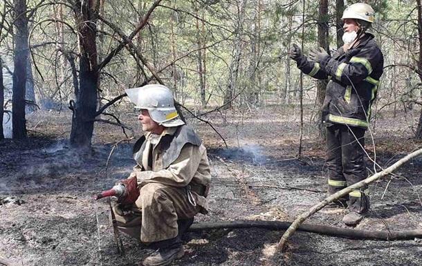 Пожары в лесных массивах Чернобыльской зоны локализованы