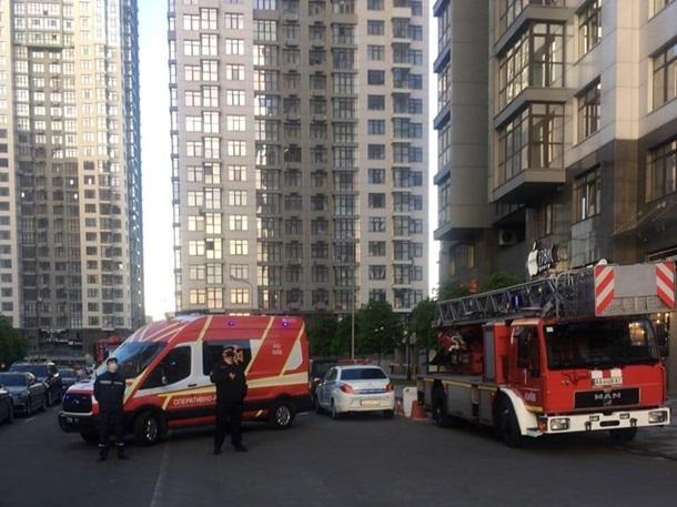В Киеве горела баня на 20 этаже жилого дома