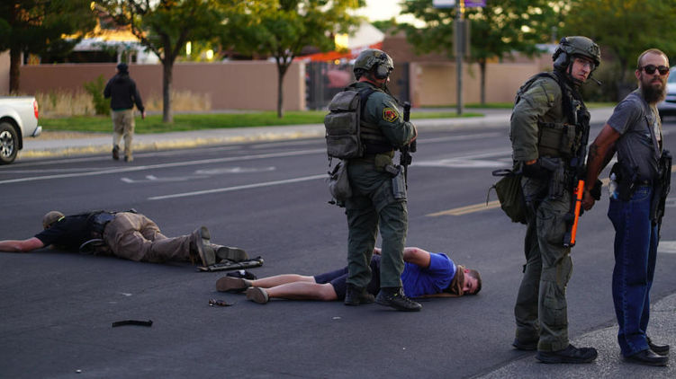 В США во время антирасистской акции произошла стрельба