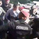 Под парламентом произошла потасовка между участниками акции