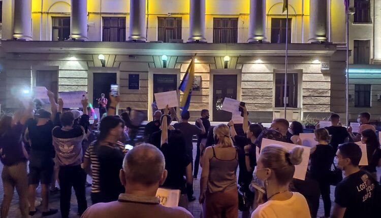 Запорожские предприниматели устроили акцию протеста под мэрией