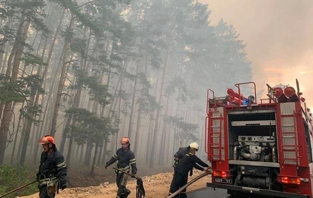 Количество лесных пожаров в Украине увеличилась в три раза