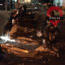 В Киеве автомобиль Tesla Богдана сгорел