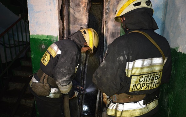В Днепре был пожар в жилой девятиэтажном доме