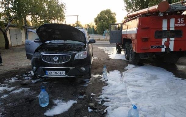 В ночь на субботу в Северодонецке горело девять автомобилей