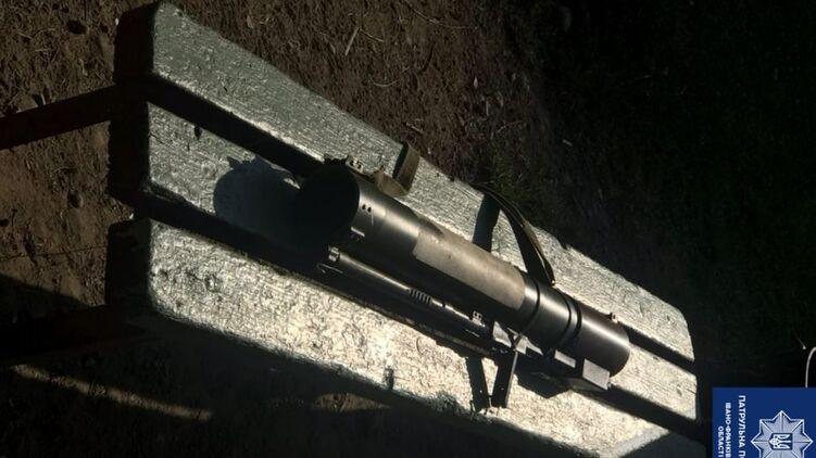 В Ивано-Франковске на лавочке нашли гранатомет