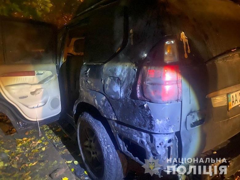 Житель Киева поджег три автомобиля в течение часа