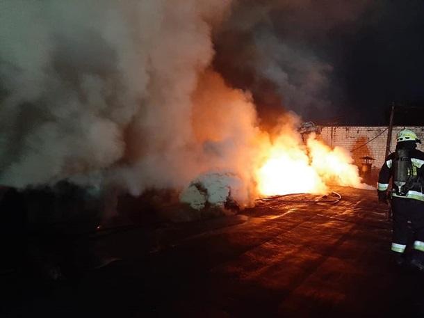 В Днепре загорелся производственный цех на агрегатном заводе