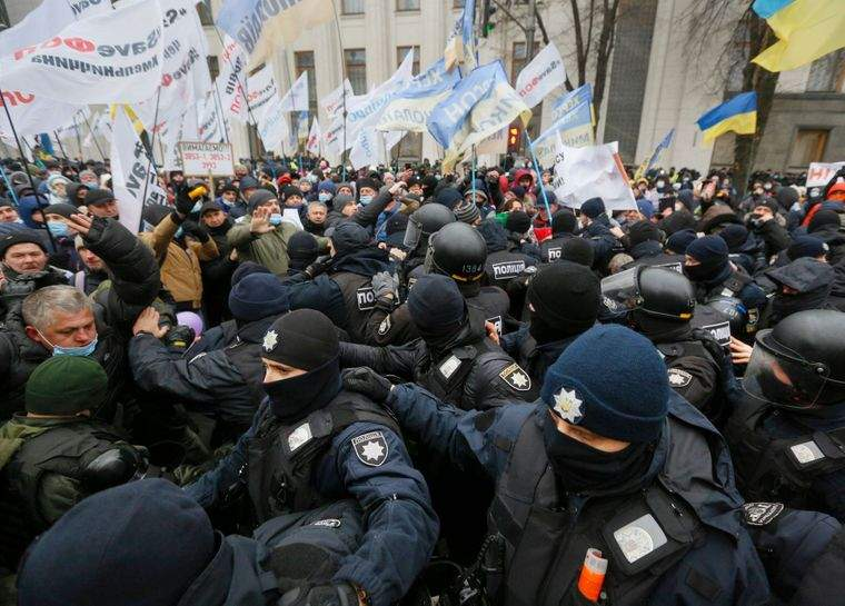 К протестам возле ВР привлекли нацгвардию(ВИДЕО)