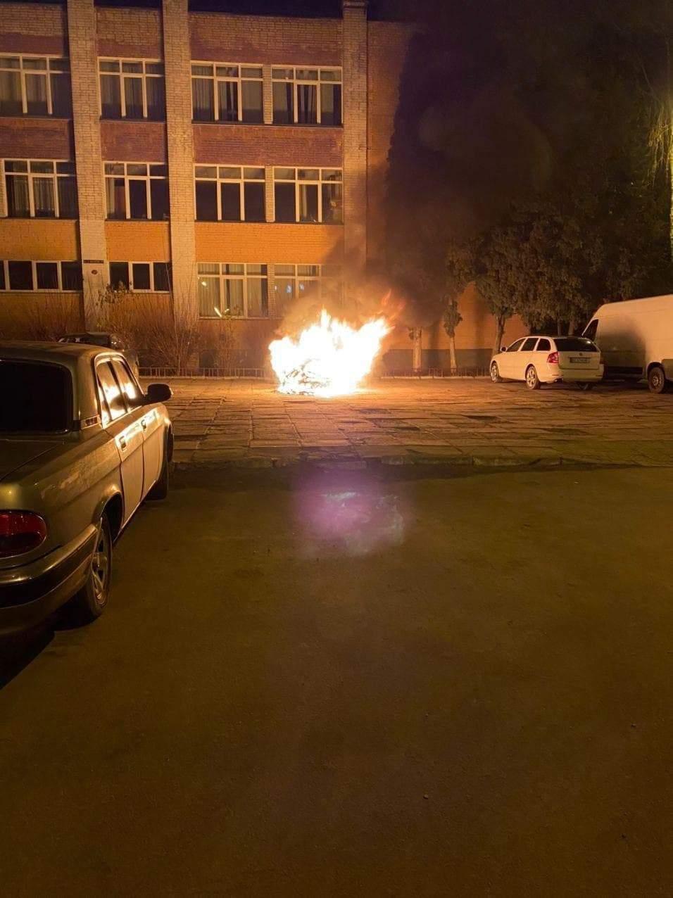 Во Львове сожги автомобиль детектива НАБУ