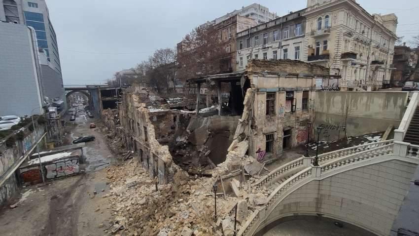 В Одессе обвалилось несколько жилых домов (ФОТО)