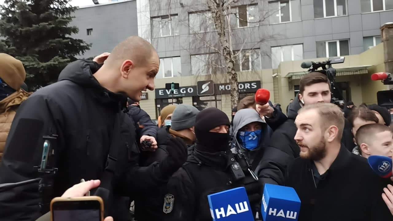 Протест возле телеканала