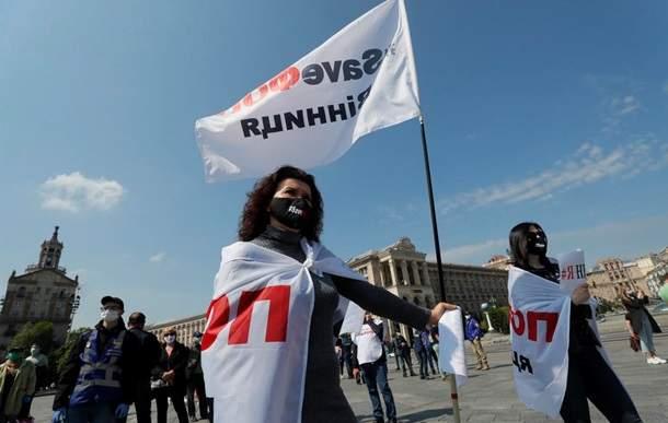 Акция SaveФОП: В центре Киева пока все спокойно