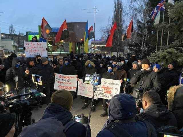 Радикалы вновь пытались пикетировать телеканал