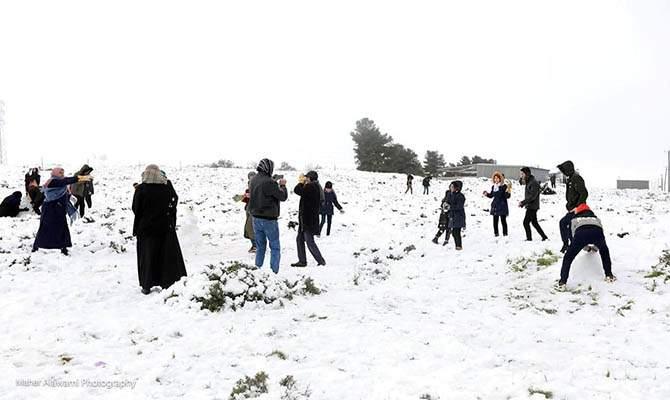В Египте и Ливии за долгое время впервые выпал снег